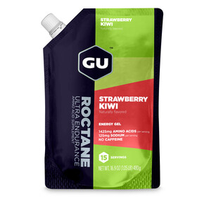 GU Energy Roctane Gel Vorratsbeutel Strawberry Kiwi 480g